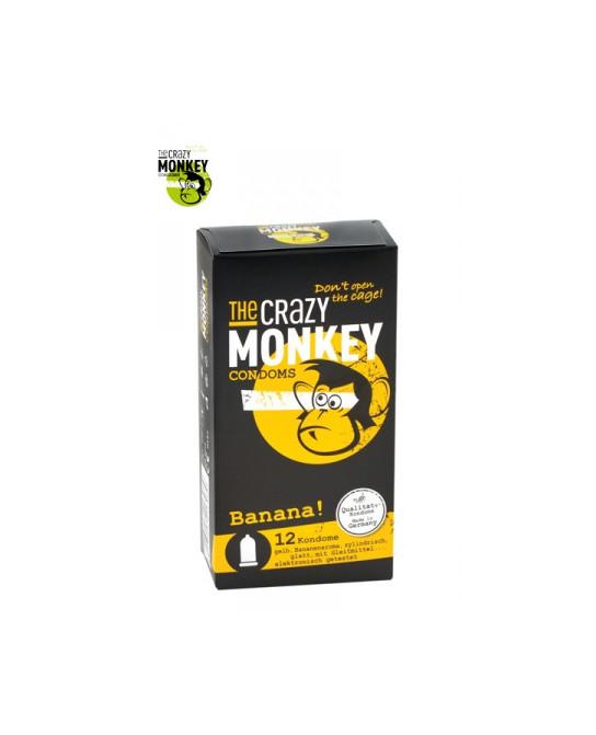 12 Préservatifs Crazy Monkey Banane - Préservatifs