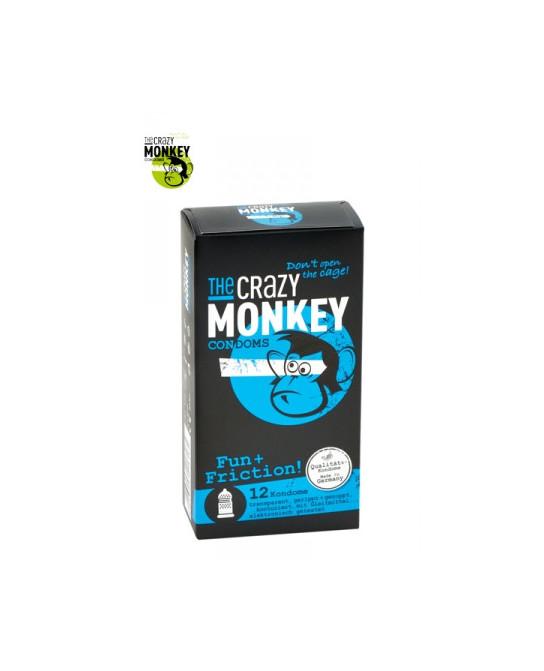 12 Préservatifs Crazy Monkey Fun & Friction - Préservatifs