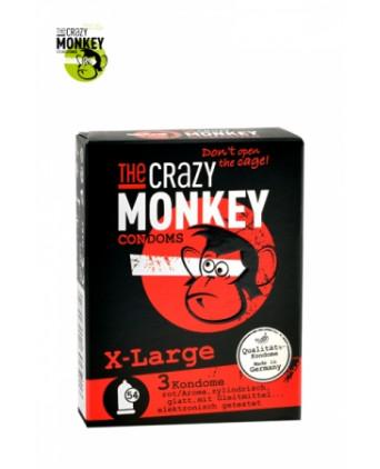 3 Préservatifs Crazy Monkey X-Large - Préservatifs
