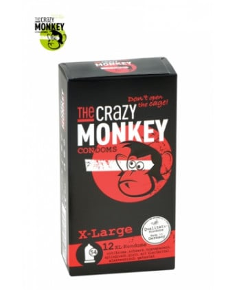 12 Préservatifs Crazy Monkey X-Large - Préservatifs