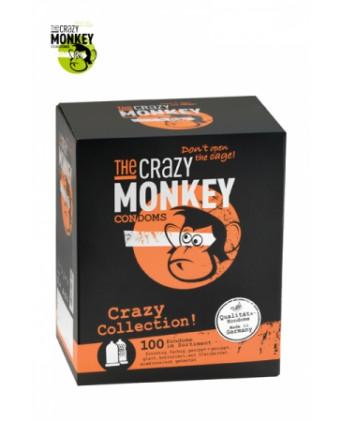 Assortiment 100 Préservatifs Crazy Monkey - Préservatifs