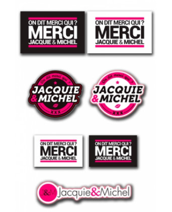Assortiment 7 stickers J&M - Goodies J&M