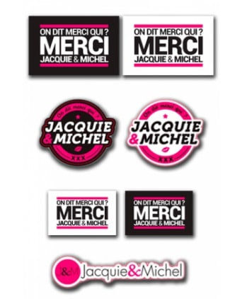 Assortiment 7 stickers Jacquie et Michel - Stickers