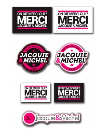 Assortiment 7 stickers Jacquie et Michel - Stickers