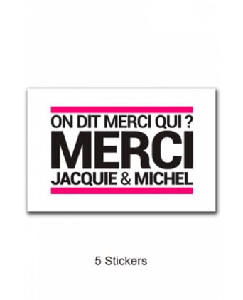 Pack 5 stickers Jacquie et Michel n°5 - Stickers