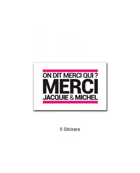 Pack 5 stickers J&M n°5 - Goodies J&M