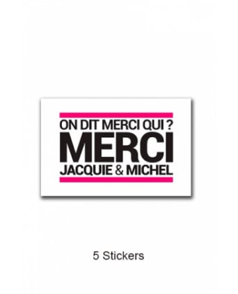 Pack 5 stickers Jacquie et Michel n°3 - Stickers