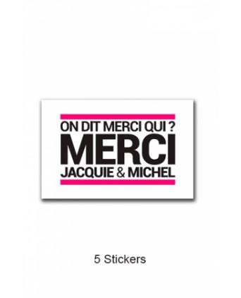 Pack 5 stickers J&M n°3 - Goodies J&M