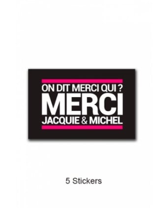 Pack 5 stickers J&M n°4 - Goodies J&M