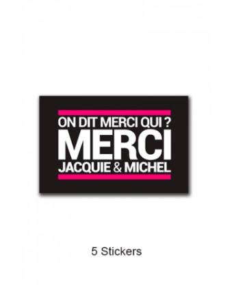Pack 5 stickers J&M n°4 - Goodies J&M