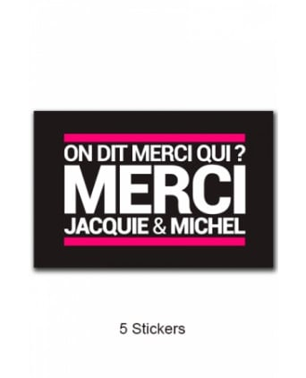 Pack 5 stickers J&M n°6 - Jacquie et Michel