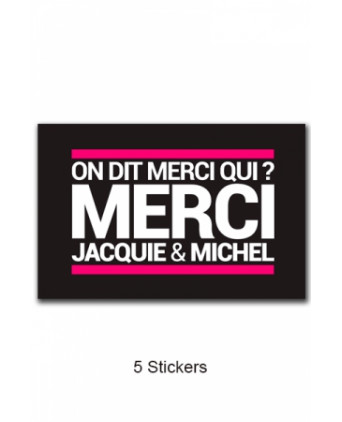 Pack 5 stickers Jacquie et Michel n°6 - Stickers