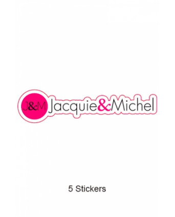 Pack 5 stickers J&M n°7 - Goodies J&M