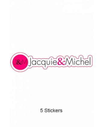 Pack 5 stickers J&M n°7 - Goodies J&M