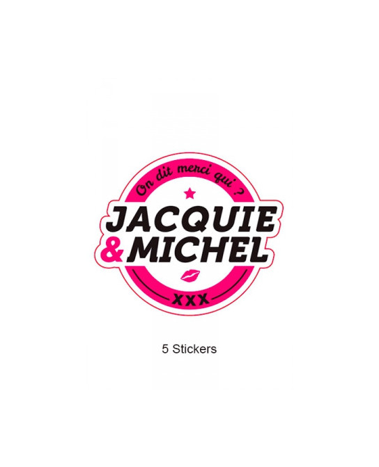 Pack 5 stickers J&M n°1 - Goodies J&M