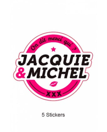Pack 5 stickers Jacquie et Michel n°1 - Stickers