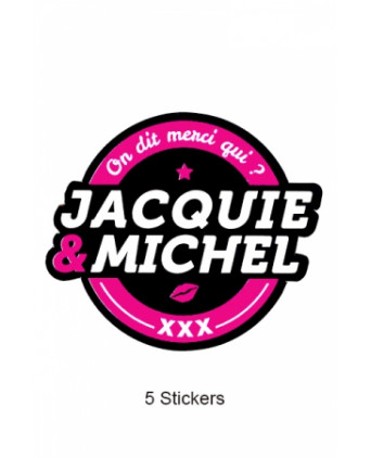 Pack 5 stickers Jacquie et Michel n°2 - Stickers
