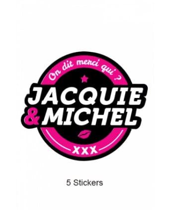 Pack 5 stickers J&M n°2 - Goodies J&M