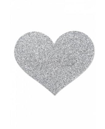 Bijoux de seins Flash Coeur Argent - Nippies cache tétons