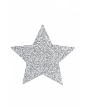 Bijoux de seins Flash Etoile Argent - Nippies cache tétons