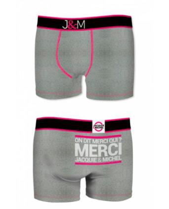 Boxer J&M en coton - gris - Boxers J&M