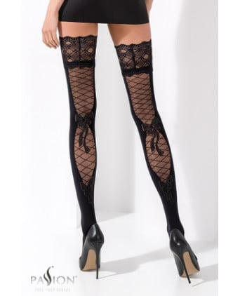Bas autofixants ST025 Noir - Collants, bas