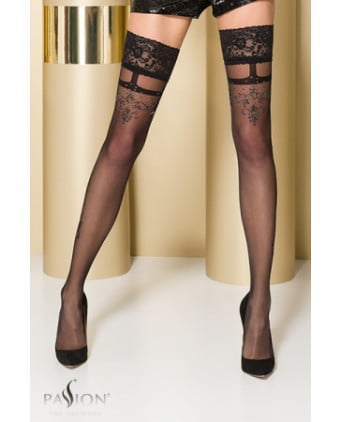 Bas autofixants ST104 Noir - Collants, bas