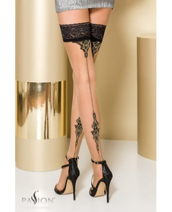Bas autofixants ST106 Beige - Collants, bas