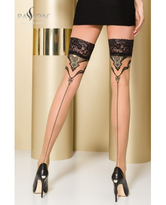 Bas autofixants ST109 Beige - Collants, bas