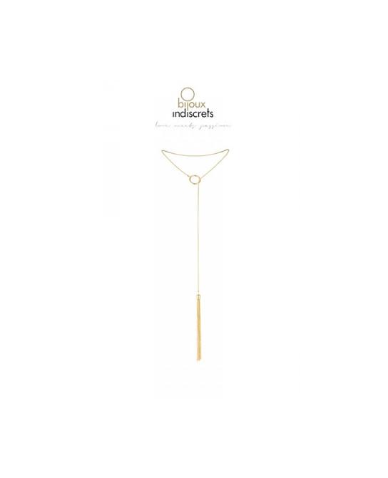 Collier métallique doré avec franges - Fetish et Glamour