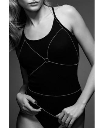 Chaine de poitrine argentée - Fetish et Glamour