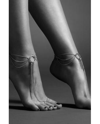 Chaines argentées pour les pieds - Fetish et Glamour