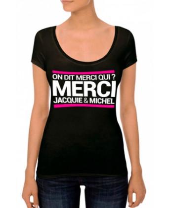 T-shirt Jacquie et Michel Femme n°4 - noir - T-shirts Femme