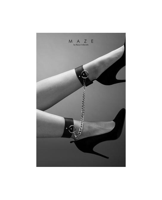 Menottes pour chevilles noir - Maze - Fetish et Glamour