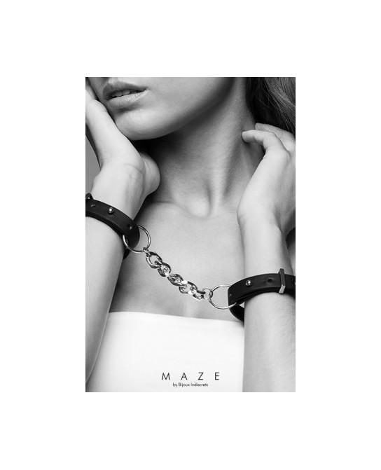 Menottes bracelets noir - Maze - Fetish et Glamour