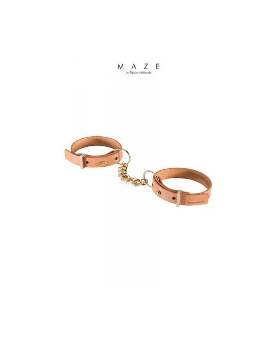 Menottes bracelets marron - Maze - Fetish et Glamour