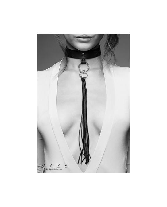 Collier fouet noir - Maze - Fetish et Glamour