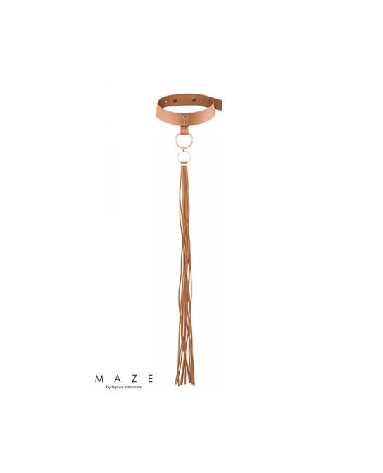 Collier fouet marron - Maze - Fetish et Glamour