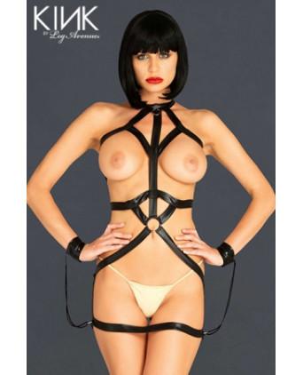 Robe Bondage Body Harness - Lingerie vinyle femme