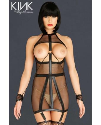 Robe Bondage Garter Dress - Robes sexy
