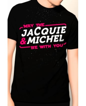 Tee-shirt May The Jacquie et Michel be with you - noir - T-shirts Homme