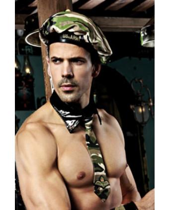 Déguisement sexy militaire 5 pièces - Déguisements homme