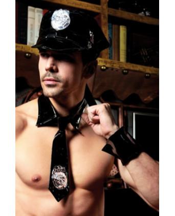 Déguisement sexy policier 5 pièces - Déguisements homme