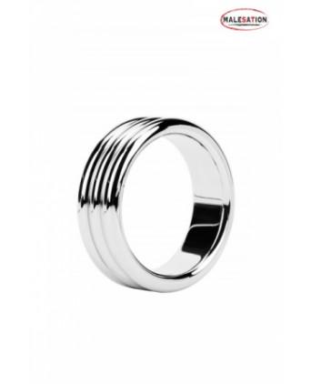 Metal ring Triple steel - Malesation - Anneaux péniens