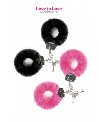 Menottes fourrure Attach me - Menottes et bracelets