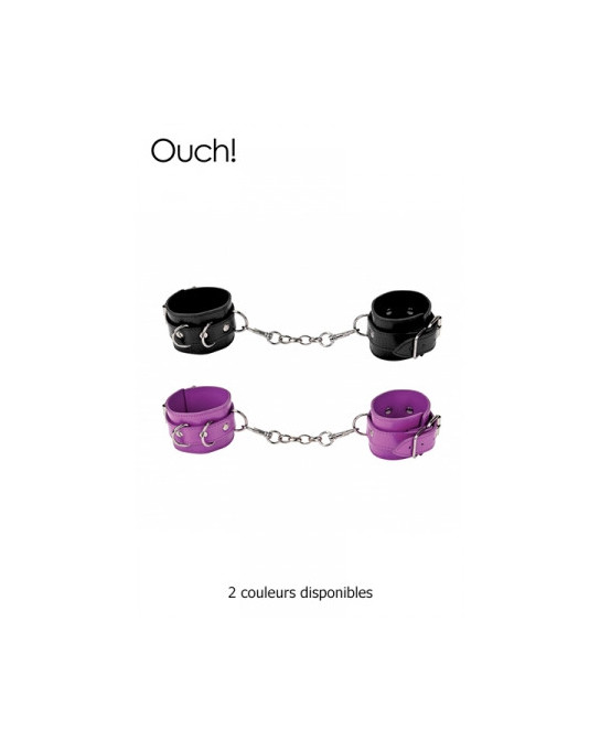 Menottes en cuir - Ouch - Menottes et bracelets