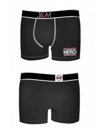 Boxer Jacquie et Michel en coton - Noir 1 - Boxers Homme