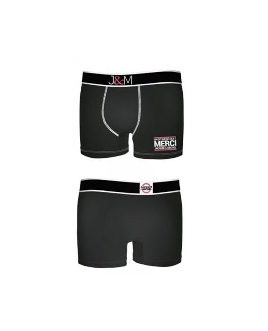 Boxer J&M en coton - Noir 1 - Boxers J&M