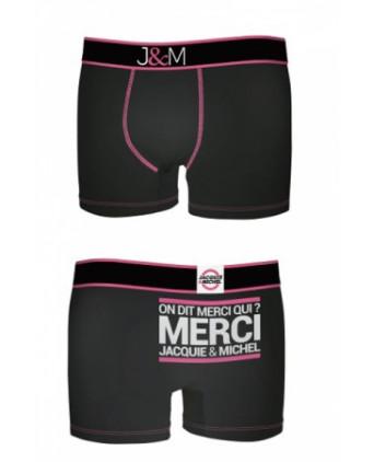 Boxer Jacquie et Michel en coton - Noir 2 - Boxers Homme