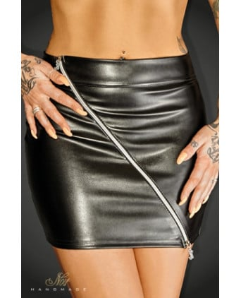 Mini jupe Ruler - Lingerie vinyle femme